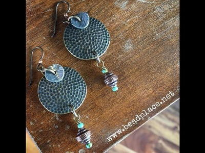 How To Make Mixed Metal Cold Connection Earrings with The Bead Place