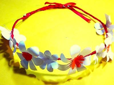 How to make paper flower tiara.headband.crown | DIY Flower Crown
