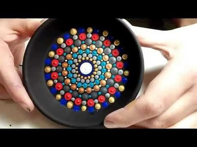How To Paint Dot Mandalas Super Cute Jewelry Dish FULL TUTORIAL