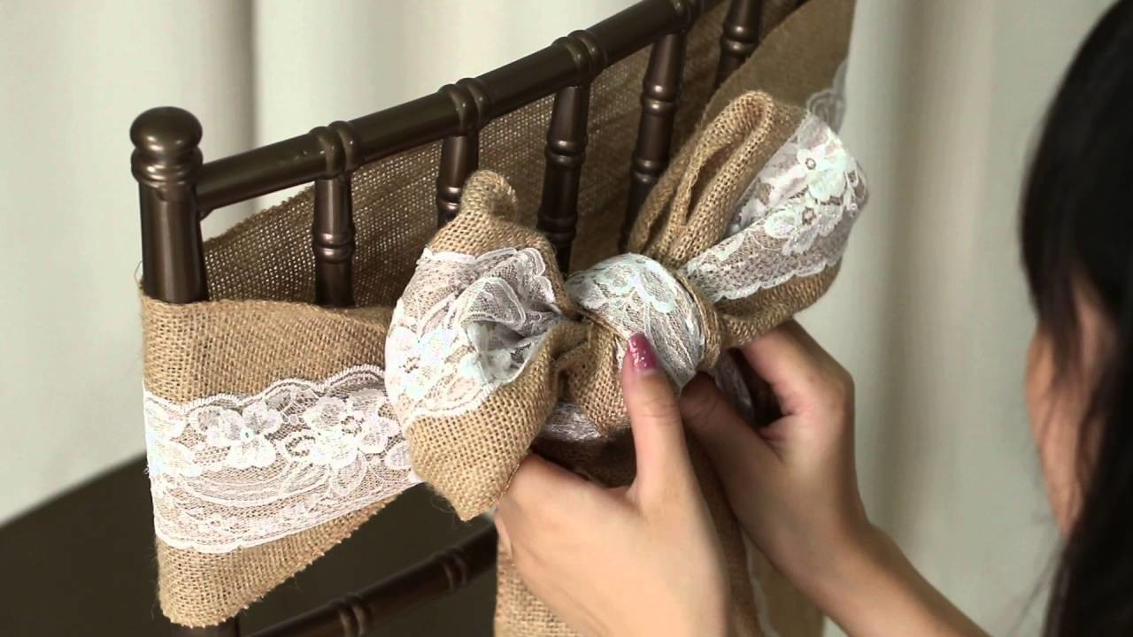 How to tie a Bow on a chair