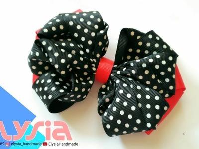 Laço Curly - Curly Grosgrain #Ribbon Bow | DIY by Elysia Handmade
