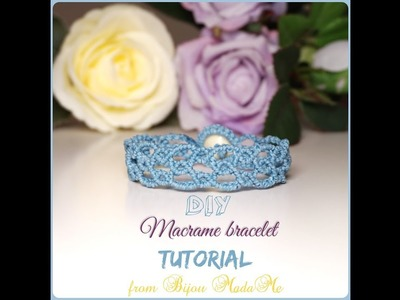 Macrame bracelet tutorial. DIY macrame jewelry & crafts. How to make vintage style macrame bracelet.