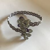 Metal Bracelet Purple Silver