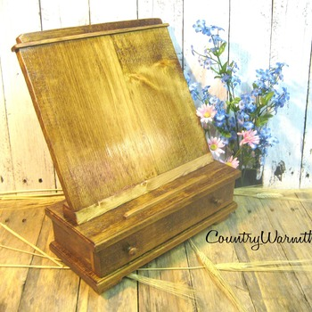 Mothers day gift, Wood iPad stand, Cookbook holder, Rustic iPad stand, Tablet holder, Kitchen iPad stand, Country kitchen decor, Home decor