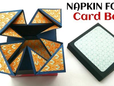 Napkin fold Card box - DIY Tutorial - 885