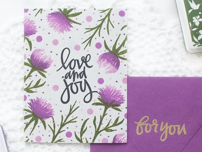 One Layer Card with Stamped Background
