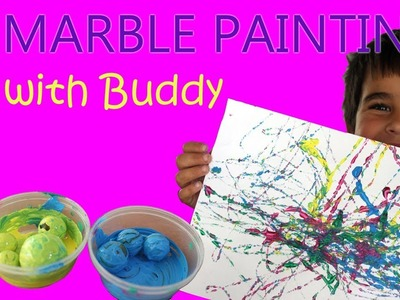 Painting with Marbles | Painting for Kids | Kids Craft | Fun ways to Paint