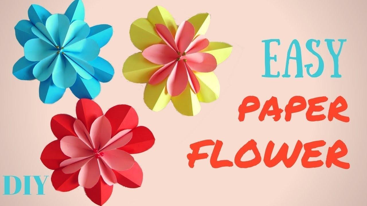 Paper flower easy diy 3d spring flowers making paper flowers paper flower easy diy 3d spring flowers making paper flowers tutorial hand made mightylinksfo