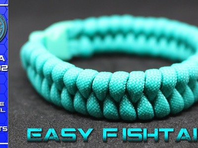 Paracord for beginners - How to make Paracord Bracelet Fishtail - Fast and Easy - Tutorial DIY