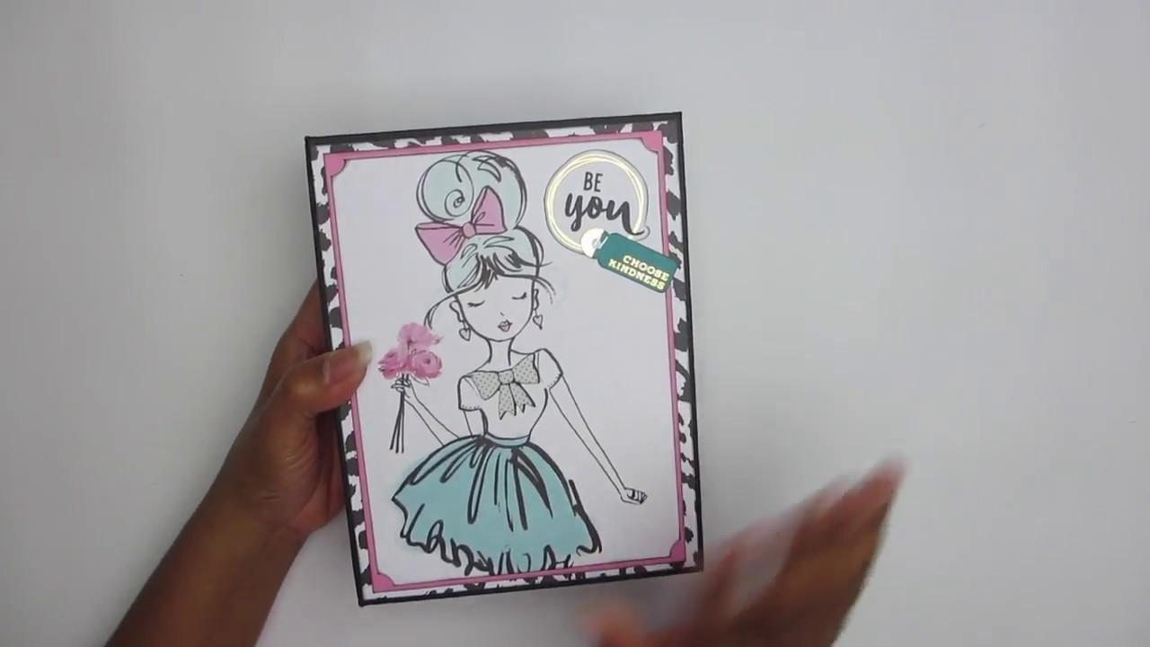 Paris Girl Mini Album using Picture Perfect Tutorial