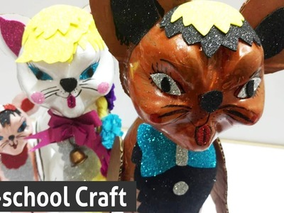 Preschool Craft Ideas Out of Plastic Bottles - How to Make a CATS from Plastic Bottles