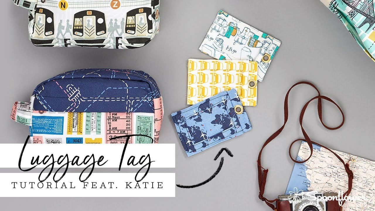 Ready to Travel: DIY Fabric Luggage Tag | Spoonflower