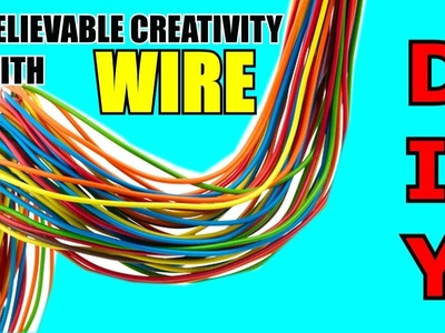 REUSE OF WIRE. BEST OUT OF WASTE. REUSE OF OLD CLOTHES