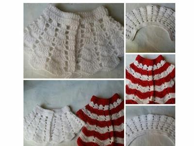 Single colour crochet frock knitting design - part - 2