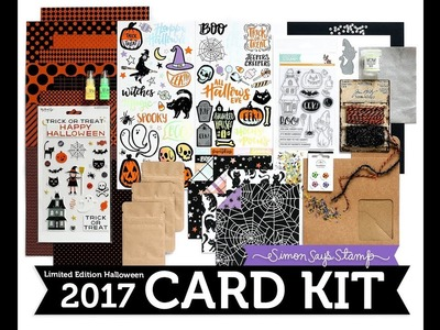 SSS Creepy Cute Card Kit Unboxing | Limited Edition Simon Says Stamp Halloween Card Kit