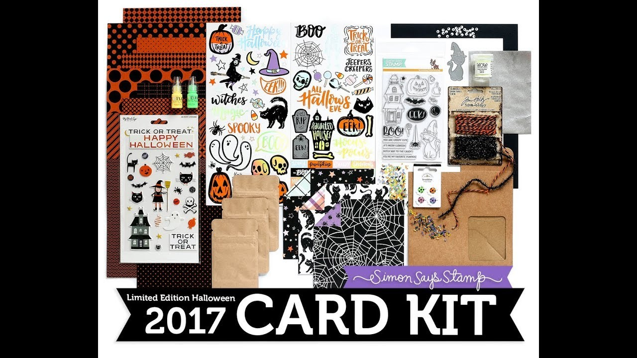 SSS Creepy Cute Card Kit Unboxing   Limited Edition Simon Says Stamp Halloween Card Kit