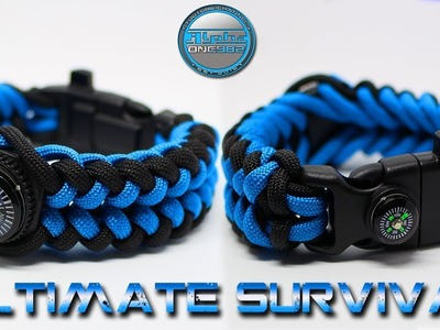 Ultimate Survival Paracord Bracelet 15 in 1 - How to make - DIY - Tutorial