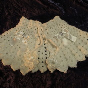 Victorian Style Capelet/Prom Cape White (10-teen Size)
