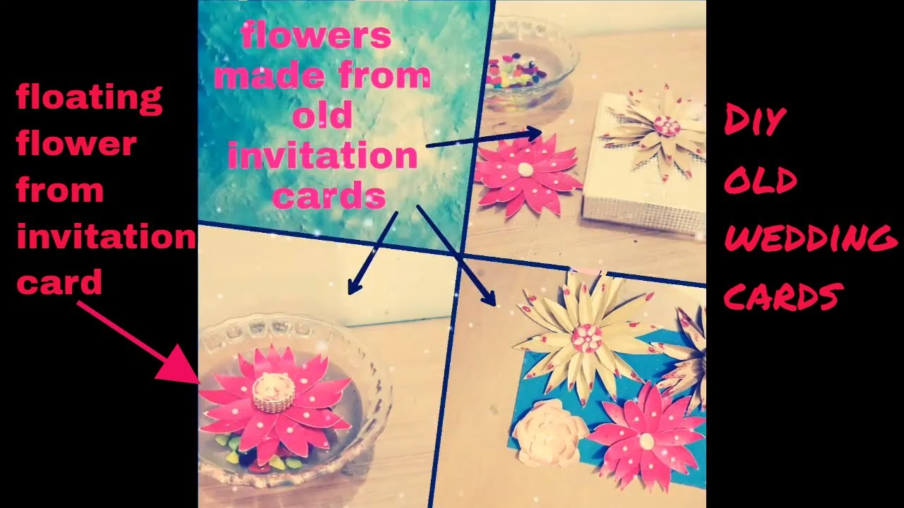 What to do with wedding cards.reuse of wedding cards.flowers from old card.diy.diy flower.koodkala12