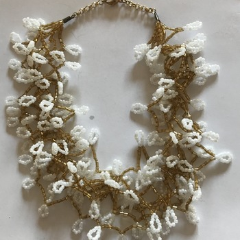 White Yellow Beads Necklace