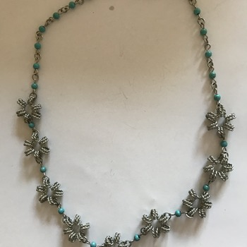 Wire wrapped handmade necklace