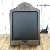 Wood iPad stand, iPad Holder, Chalkboard, Tablet Holder, Country Kitchen Decor, Home Decor, Kitchen Decor, Cookbook Holder, Country Gifts