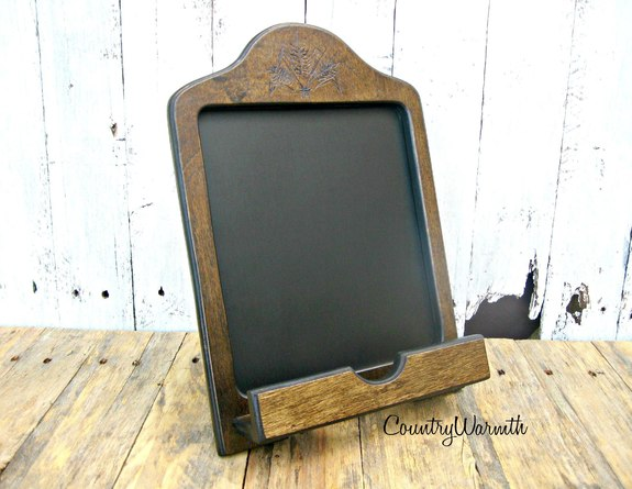 Miraculous Wood Ipad Stand Ipad Holder Chalkboard Tablet Holder Complete Home Design Collection Papxelindsey Bellcom
