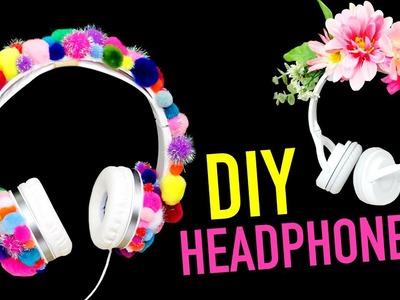 3 DIY Headphones ~ Pom Poms. Flower Crown. Glow in the Dark  - HGTV Handmade