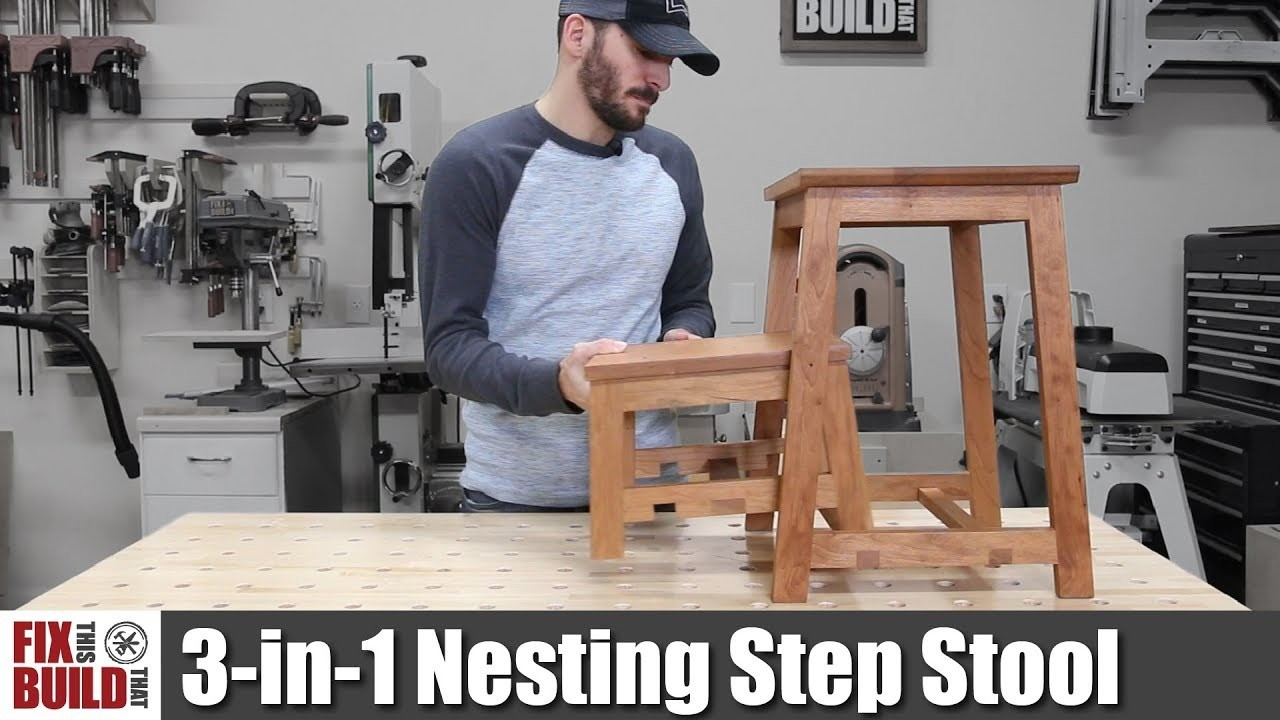 3-in-1 Nesting Step Stool | How to Build DIY Project