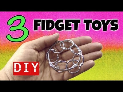 3 SIMPLE DIY FIDGET TOYS - NEW FIDGET TOYS FOR SCHOOL - HOW TO MAKE STIM TOYS FROM HOUSEHOLD ITEMS
