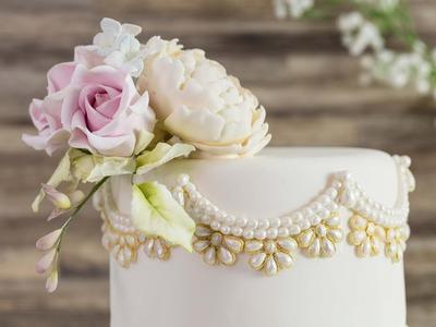 Art Deco Jewels & Pearls Mould - Karen Davies Sugarcraft - Cake Decorating - How To - Tutorial