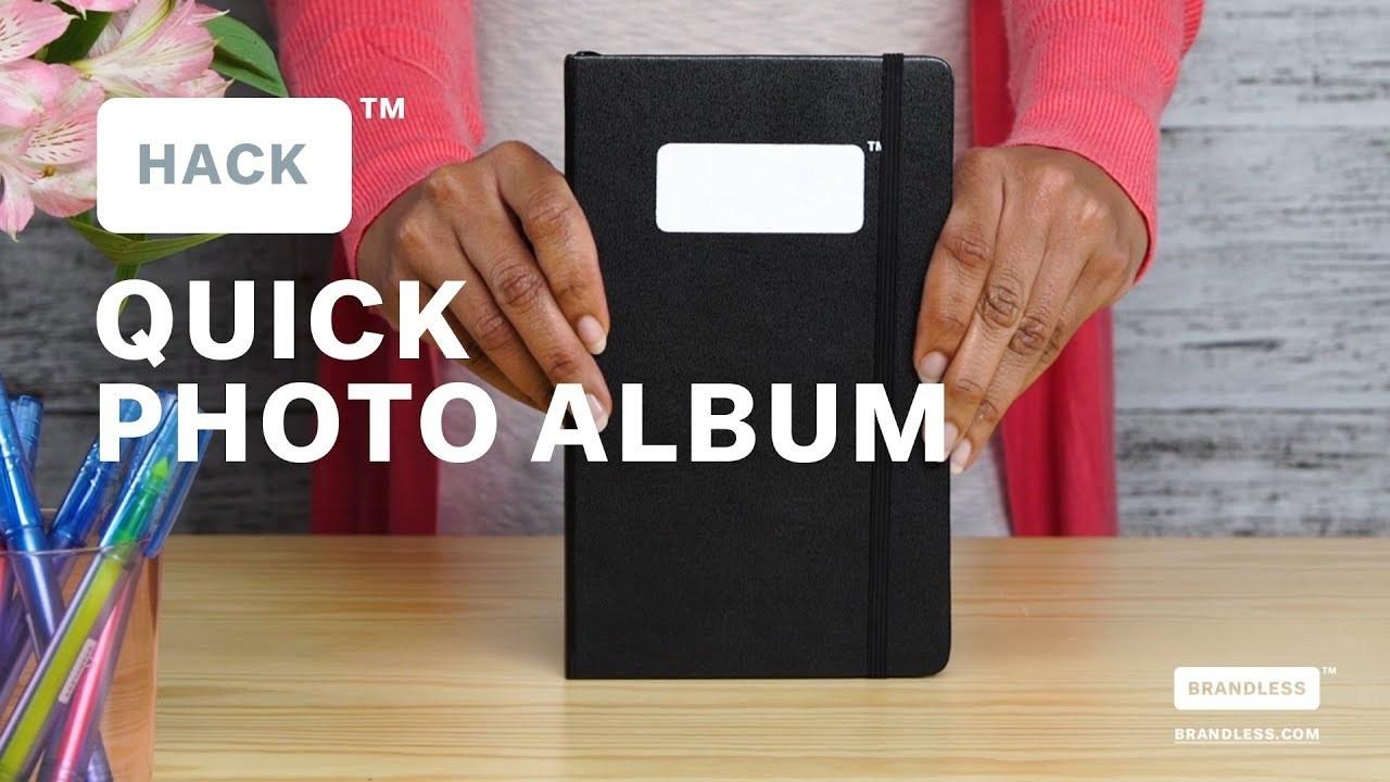 Brandless Hack: How to Make a DIY Photo Album