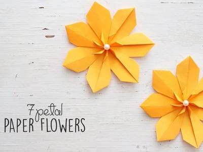 DIY 7 Petal Flowers