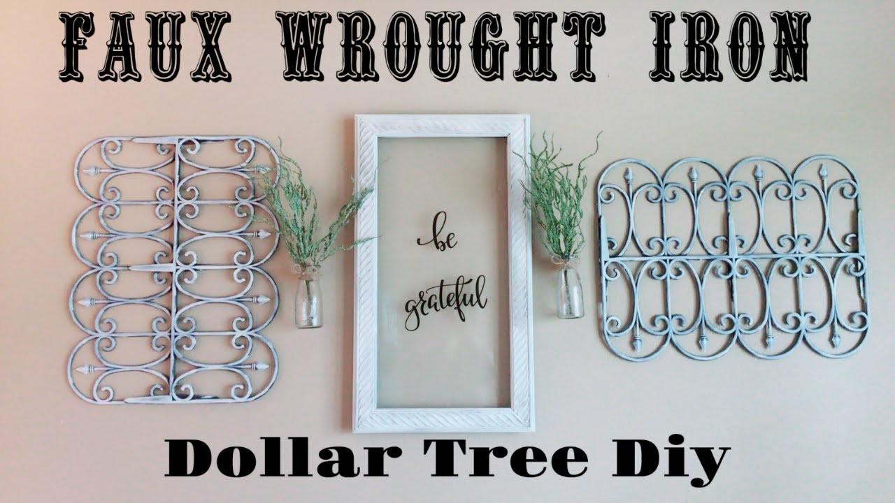 DIY Dollar Tree Faux Wrought Iron Wall Decor