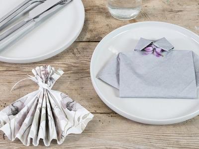 DIY : Fold napkins for springtime parties by Søstrene Grene