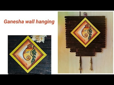 DIY Ganesha wall hanging | popsticks wall hanging | best out of waste | colours Creativity Space