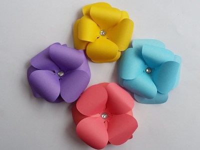 DIY:How to Make Easy, Simple and Beautiful Paper Flower!!!