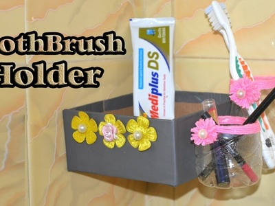 DIY | Life Hacks | How to Make a Toothbrush Holder for Bathroom | Easy Toilet Decoration Idea