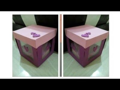DIY-Make a paper box| Gift box|Message box|5 minute crafts|DIY crafts|Gift Hacks