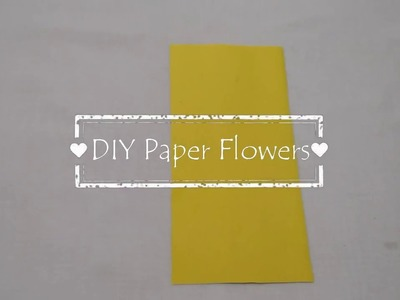 DIY Paper Flowers. How to make Easy n Beautiful Flowers with Paper | Home Decoration | Paper Craft