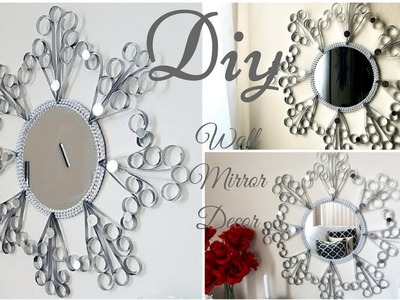 Diy Quick and Easy Wall Mirror Decor| Wrought Iron mimic Wall Decor!