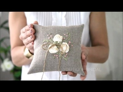 DIY Ring Bearer Pillow Part 2