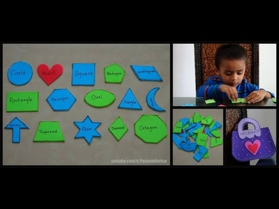 DIY - Shapes puzzle for toddlers | Shapes activity for kids | Easy busy bag ideas