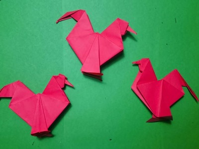 EASY Origami Rooster Tutorial How To Make A