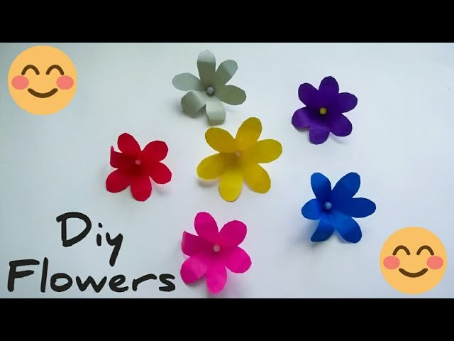 Easy paper flowers. How to make paper flowers easy method.paper flowers. Craft by KovaiCraft