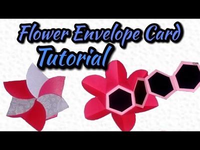 Flower Envelope Card Tutorial.how to make Flower Envelope Card