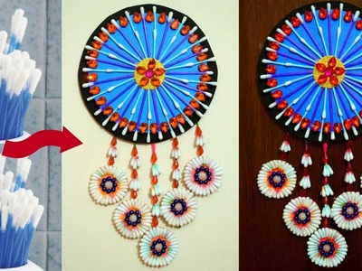 Home Decorating Idea - How to Reuse Waste Cotton Buds at Home - Best Out of Waste With Cotton Buds