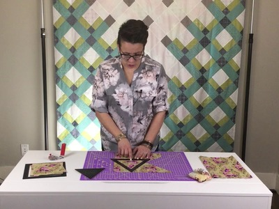 How to cut perfect triangles for your triangle quilt EASY
