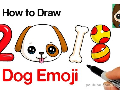 How to Draw a Dog Emoji Easy | Year of the Dog