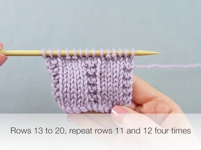 How to knit Pique Stitch